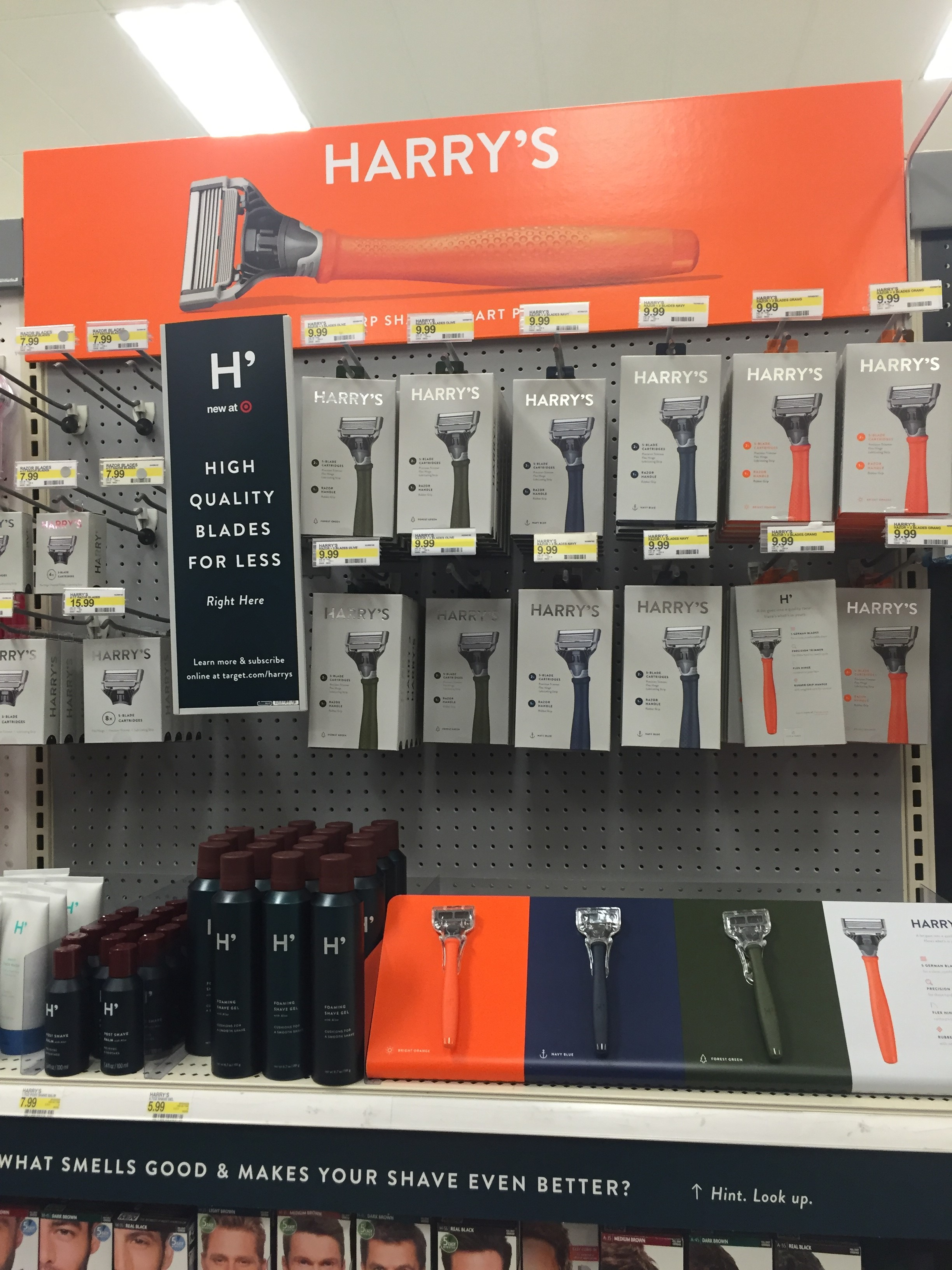 Harry's Occupies about Four Feet of Branded Shelf Space at Target