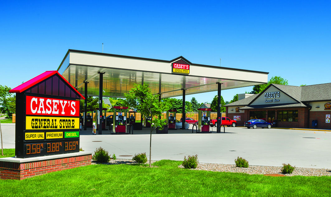 exterior of Casey's gas station and store