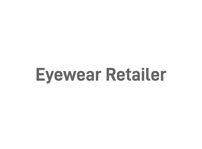 Undisclosed eyewear retailer logo