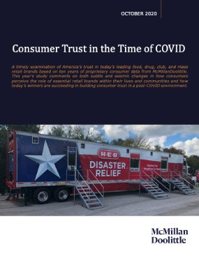 Consumer Trust in the Time of COVID