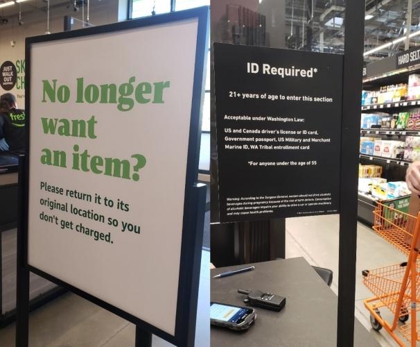Amazon Fresh signage