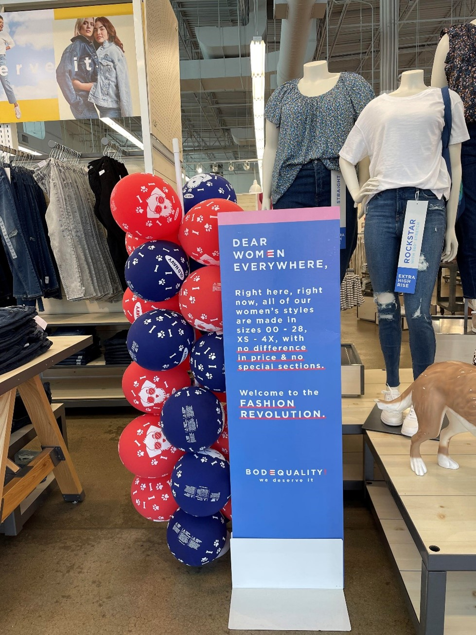 Old Navy body equality
