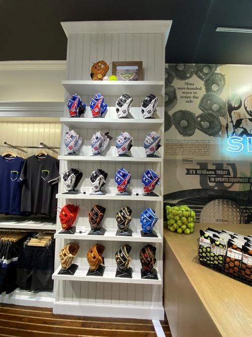 baseball glove display