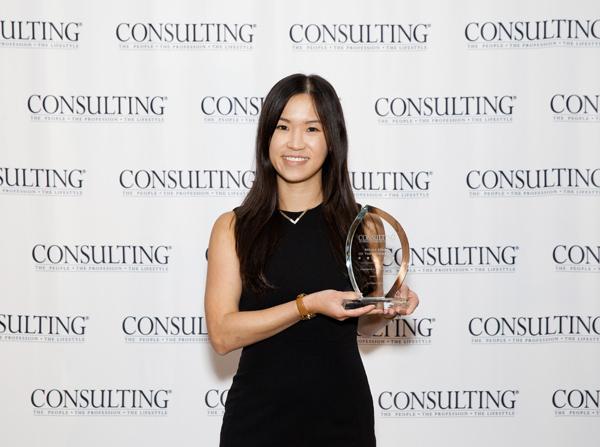 Amanda Lai with her award